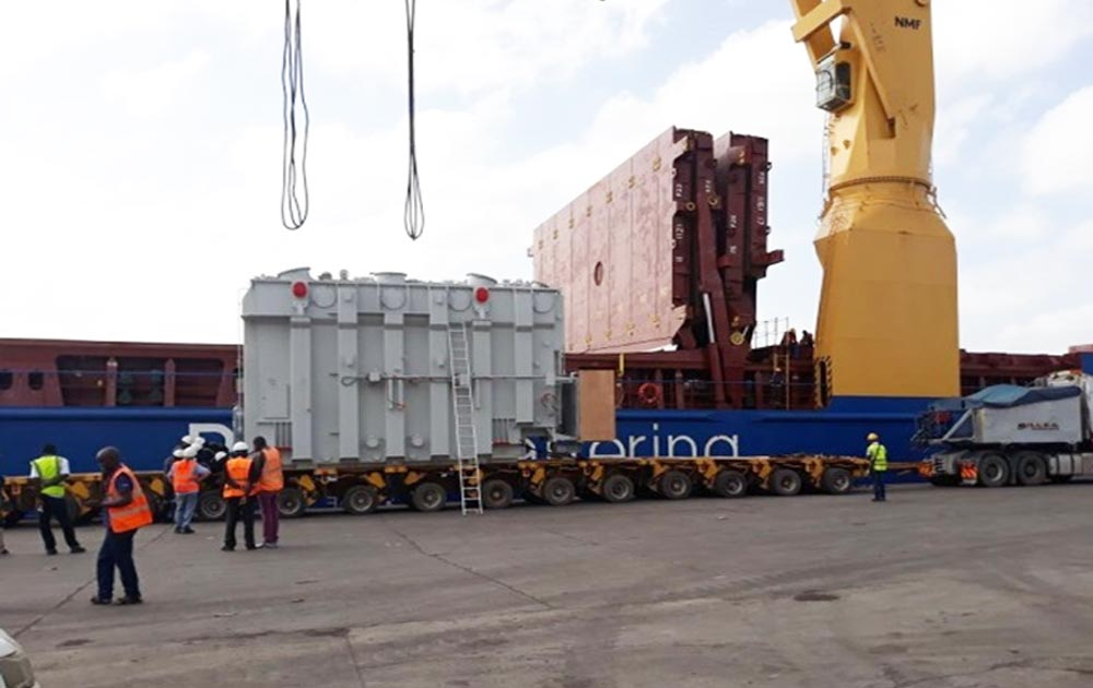 Handling of Thika Transformer at the port of Mombasa